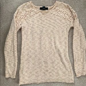 Sweater with Crochet detail